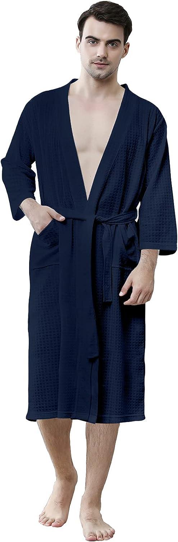 Waffle Robes for Men Ultra-Cheap Deals Long Ba Lightweight Mens Summer Soft Classic