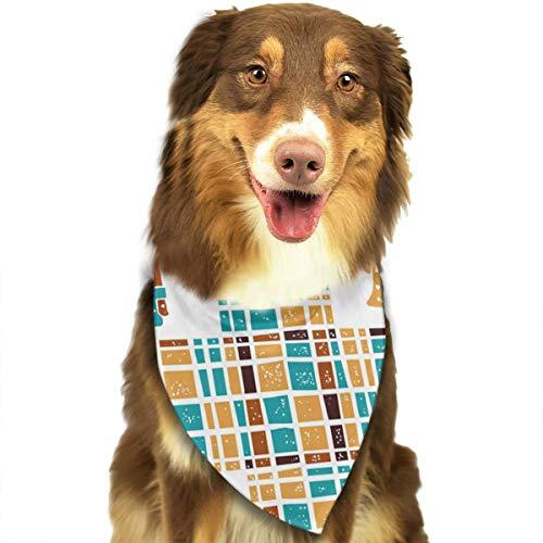 iuitt7rtree nahtloses Muster, Kaffeekannen und Karomuster, Taschentücher, Schals, Dreiecks-Lätzchen, Zubehör für kleine, mittelgroße und große Hunde, Welpen und Haustiere