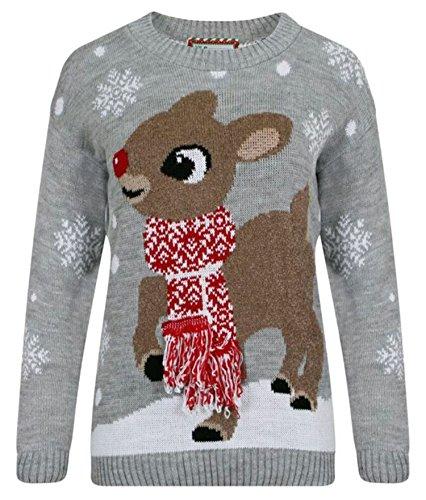 Fast Fashion Frauen Jumper Pullover Baby Bambi 3D Schal Und HANDS OF MY PUDS Printed Neuheit