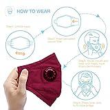 Wiivilik Maske Mund Wiederverwendbare PM2.5 Staubmaske waschbarer Schutz Maske...