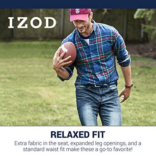 IZOD Men's Comfort Stretch Denim Jeans (Relaxed Fit), Lexington, 34x32