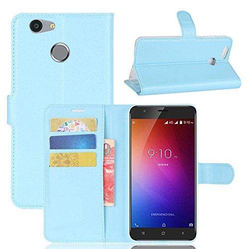 Owbb Hülle für Blackview E7 Ultra Schlanke Handyhülle Premium PU Ledertasche Flip Cover Wallet Case mit Stand Function Innenschlitzen Design Blau