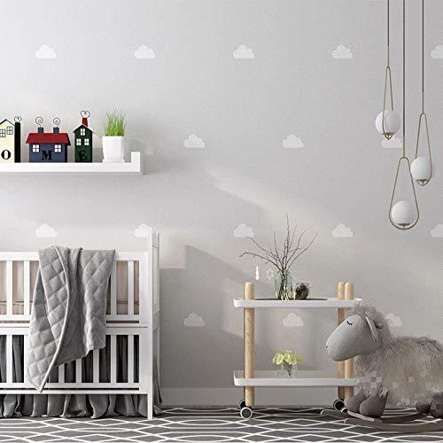 3D vliesbehang personaliseerbaar kunstenaarsschilderij wit clouds modern behang kinderkamer jongens meisjes slaapkamer prinses kamer achtergrond wanddecoratie behang 200 x 140 cm.