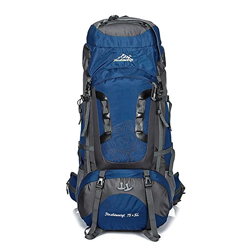 WYXIN75 L + 5 L sac à dos en plein air sac à dos étanche escalade pêche sac à dos randonnée randonnée sac de camping en plein air randonnée alpinisme sac, e