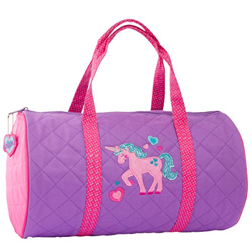 Stephen Joseph Quilted Duffle Unicorn