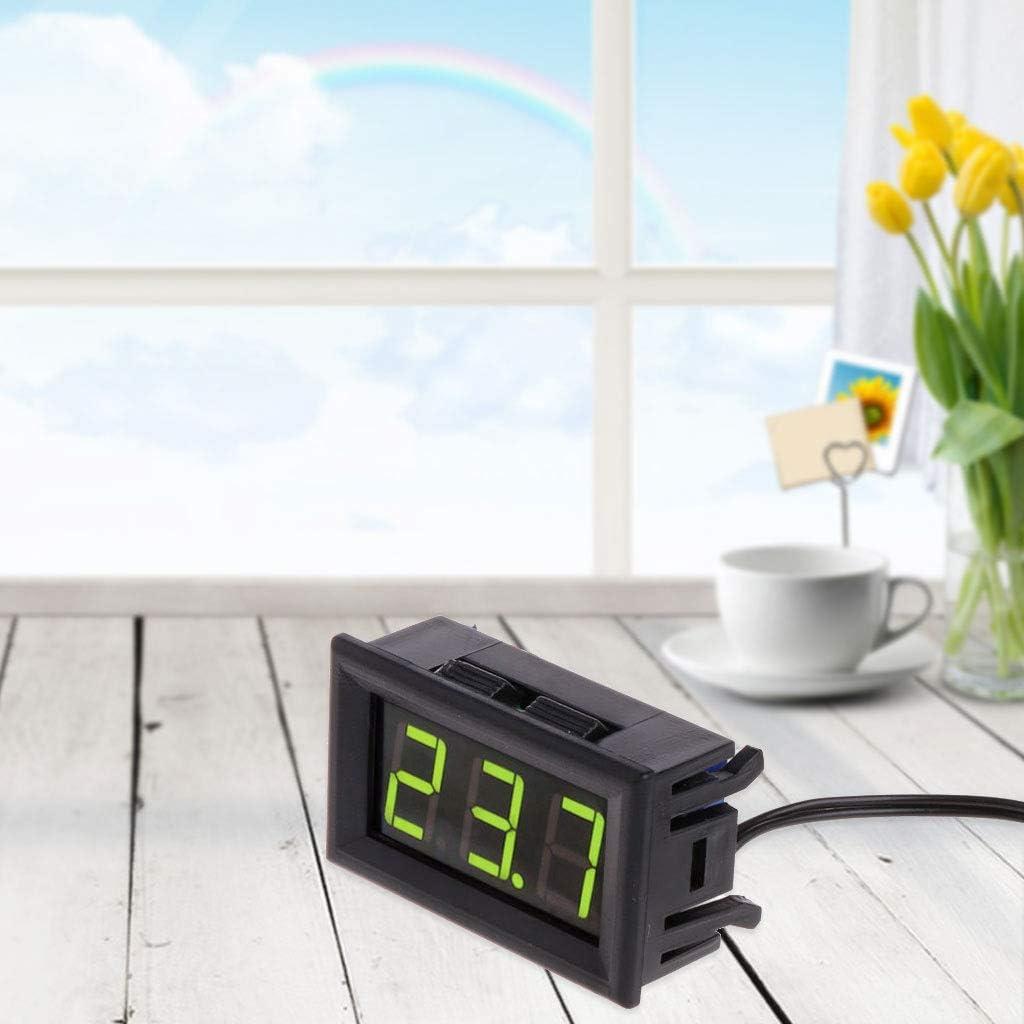 50~110 /° c DC 12v Digital LED Term/ómetro Medidor de Panel de Monitor de Temperatura del Coche ruiruiNIE