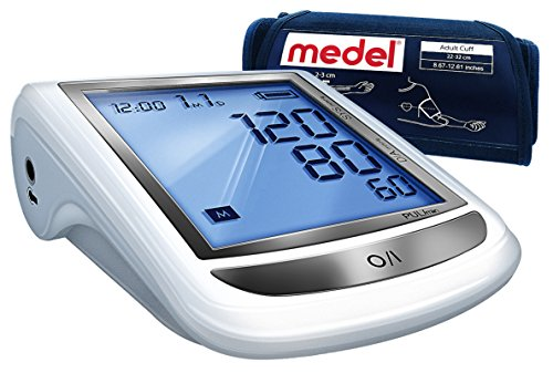 Medel 92587 - Misuratore di pressione da braccio, Bracciale Universale 22-32 cm, 4 Batterie, Borsina per il trasporto