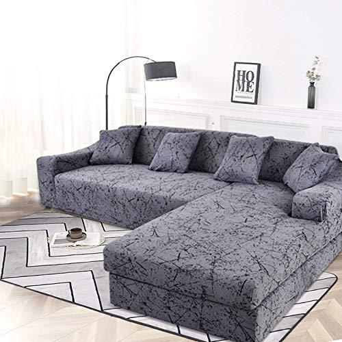 ASCV SofabezügeElastic für Wohnzimmer Stretch Couch Schonbezug Funda Sofa Chaiselongue Benötigen Sie 2 Stück für Ecksofa A1 4-Sitzer
