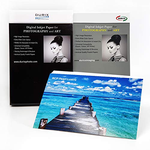 DURICO RCP Pearl Lustre 300gsm Digital Inkjet Photo Paper (13 x 19-inches, 50 sheets)