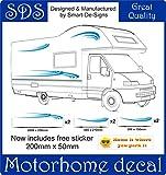 Smarts-Art Van caravana pegatinas de gráficos de vinilo Adhesivos Set RV caravana caballo Set 10