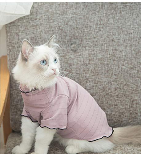 TAYIBO Haustier Katze Hundebekleidung Warm Jacke Mantel,Kitty Kleidung, Herbst Dünnschliff Hemd,...