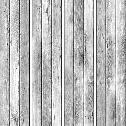 murando - PURO TAPETE selbstklebend 10m Wandtattoo dekorative Möbelfolie Dekorfolie Fotofolie Panel Wandaufkleber Wandposter Wandsticker – Holzoptik Bretter grau f-A-0787-j-a
