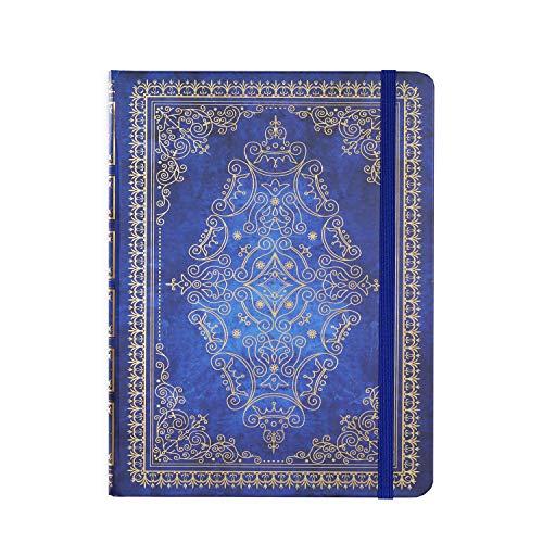 Liniertes Notizbuch/Tagebuch - Gefüttertes Tagebuch mit Hardcover, 14,2 x 21 cm, elastischem Verschlussband und Innentasche, perfekt für Schule, Büro und Zuhause