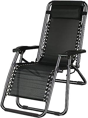KYSZD-Rails d'aide au lit Zero Gravity Recliner Sun Lounger Garden Chairs Seat Adjustable Foldable for Patio Garden Beach Pool Support 90kg (Black)