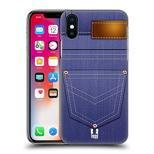 Head Case Designs Male Blue Jeans Pocket Hard Back Case Compatible for iPhone X/iPhone XS