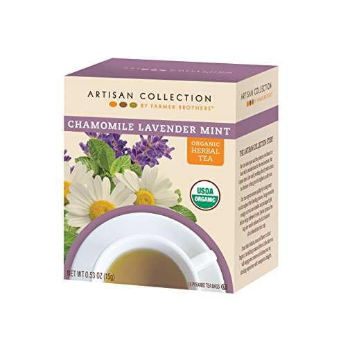 Artisan Collection by Farmer Brothers (Organic Chamomile Lavendar Mint Herbal Tea), 6/15 ct boxes