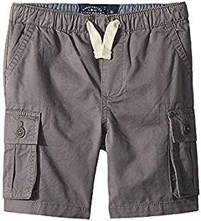 ラッキーブランド Lucky Brand Kids キッズ 男の子 ショーツ 半ズボン As Is Grey Pull-On Cargo Woven Shorts [並行輸入品]