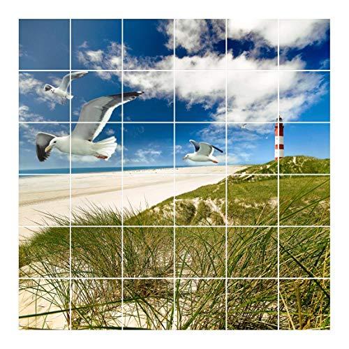 Apalis Imágen de azulejo Dune Breeze, Fliesengröße:20 cm x 20 cm;Größe:120cm x 120cm