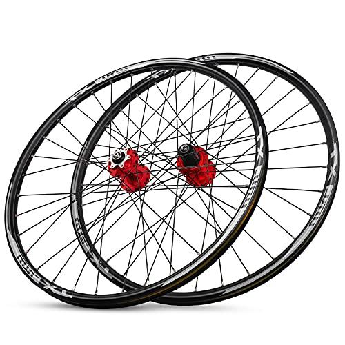 LICHUXIN Juego Ruedas MTB 29' Bicicleta Llanta de Aleación de Doble Capa Rodamiento Sellado Disco Freno Liberación Rápida 8 9 10 11 Velocidades