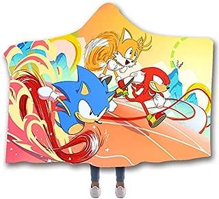 VIMMUCIR Sonic The Hedgehog 30 Blanket Hoodie Hooded Throw Blanket Soft Cloak Shawl Wrap for Adult and Kids 50 X 60