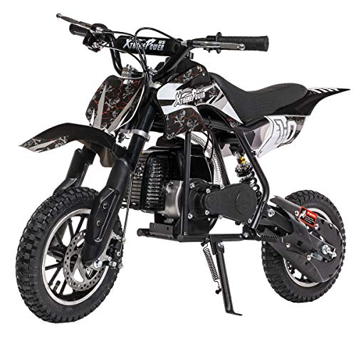 XtremepowerUS 49CC 2-Stroke Gas Power Mini Pocket Dirt Bike Dirt Off Road Motorcycle Ride-on