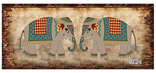 Gtfzjb Hotel Yoga Pavillon Thailändische Küche Restaurant Wandbild Elefant Tapete 3D Südostasiatischer Stil @ 480 * 320cm