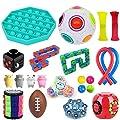JOAN 22pcs Kit de Juguetes Sensoriales,Kit de Juguetes Antiestrés,Juguete sensorial Fidget Set de Herramientas para apretar Bolas para aliviar el estrés y la ansiedad de JOAN