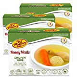Kosher MRE Meat Meals Ready to Eat, Matzoh Ball Chicken Soup & Vegetables (3 Pack) - Prepared Entree...