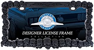United Pacific 50116 Black Skull License Plate Frame