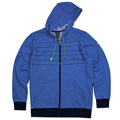 adidas ESS 3S Sweatjacke Full Zip Hoodie Trainingsjacke Kapuzen Jacke BLAU S-XXL, Größe:M, Farbe:Blau