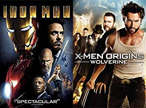 Marvel Movie Madness: Iron Man & X-Men (4) Origins: Wolverine 2-DVD Bundle Marvel Comics Universe Collection