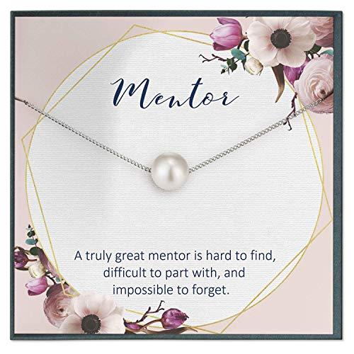 Mentor Gifts for Women Mentor Teacher Gifts for Teacher Retiring Gifts for Coworker Retirement Gifts Boss Mentor Gifts Swarovski Pearl Necklace Boss