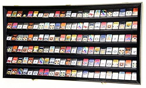sfDisplay.com,LLC. 138 Zippo Lighter Lighters Match Books Matches Display Case Cabinet Wall Rack Holder Lockable w/98% UV Door (Black Finish)