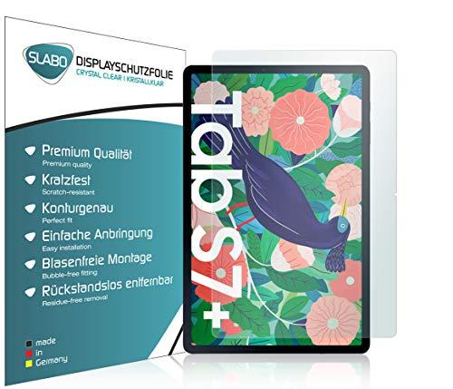 Slabo 2 x Bildschirmschutzfolie für Samsung Galaxy Tab S7+   Galaxy Tab S7 Plus Bildschirmschutz Schutzfolie Folie Crystal Clear KLAR