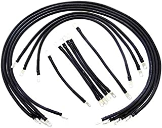 AC/DC WIRE AND SUPPLY 2 Gauge E-Z-GO TXT Golf Cart Battery Cables (13 pc Set) Black