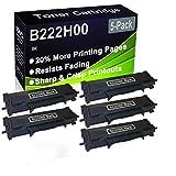 Paquete de 5 cartuchos de tóner (negro), compatible con impresoras Lexmark B222H00 (alta capacidad), compatible con impresoras Lexmark B2236DW, MB2236ADW, MB2236ADWE