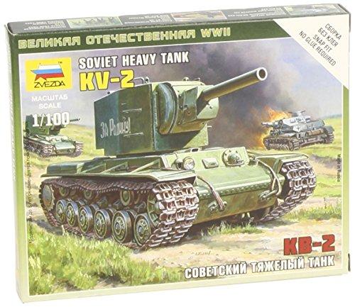 Zvezda Models KV-2 Heavy Soviet Tank SnapKit