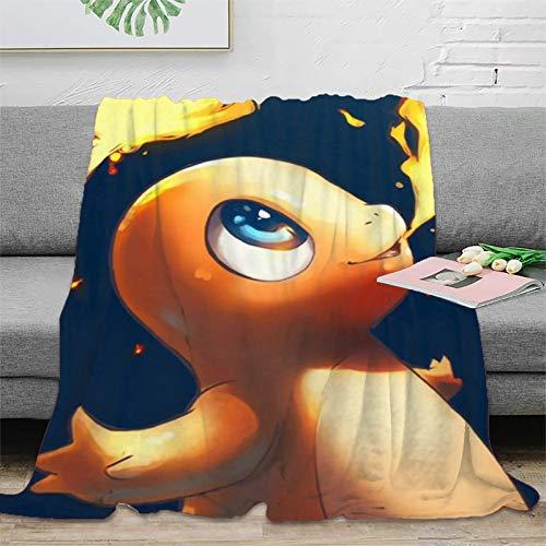 STTYE Manta decorativa para el hogar, diseño de Pokémon, 180 x 230 cm, cómoda y cálida manta para sofá y ropa de cama