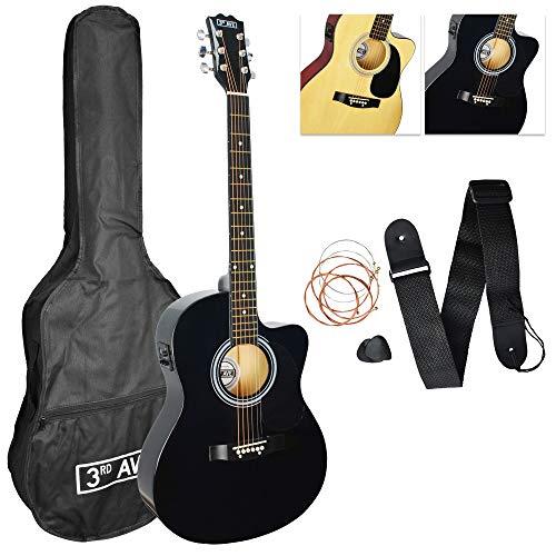 3rd Avenue STX10ECABKPK Guitare Electro Acoustique...