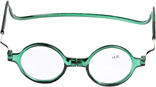 Magnet Reading Glasses Hanging Neck Glasses Reading Magnifying Glass Full Frame Resin Male Simple Ultra Light Portable (Color : Green, Size : +2X)