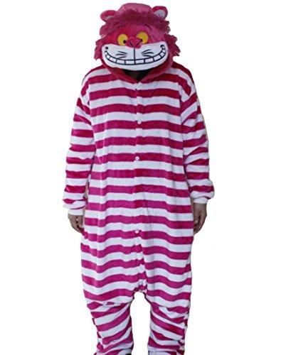 Hot Unisex Costume Carnevale Halloween Pigiama Animali Kigurumi Cosplay Zoo Onesies tuta-L/170-Gatto Cheshire