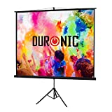 Duronic (Certified Refurbished) TPS86/43 (Black) Projector Screen for | School | Theatre | Cinema | Home |...