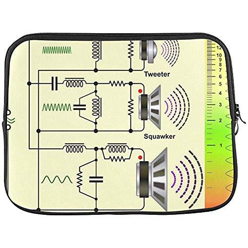 Lautsprecher Frequenzweichen Schaltplan Hülle Soft Laptop Tasche Tasche 15 Zoll