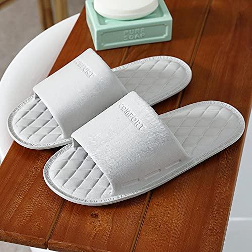 LLGG Ducha y Baño Chanclas Antideslizante,Barrido en el Durmiente, Zapatillas de baño de habitación Blanda Suave-Gris_42-43,Zapatillas Baño Secado Rápido Piscina