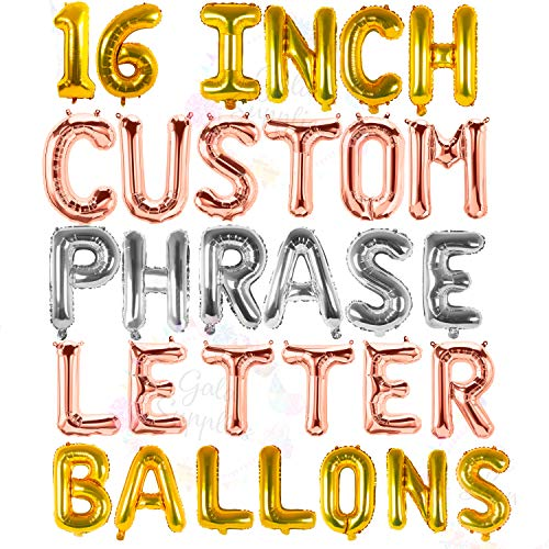 Indian Accent 16 inch Silver Jubilee Alphabet Balloons