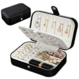 9. Jewelry Box, Travel Jewelry Organizer Cases with Doubel Layer for Women's Necklace Earrings Rings and Travel Accessories(Black)