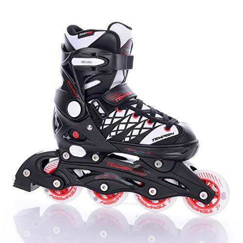 TEMPISH Schlittschuhe / Inline Skates CLIPS Duo, schwarz-weiß-rot, 33-36, 13000008253