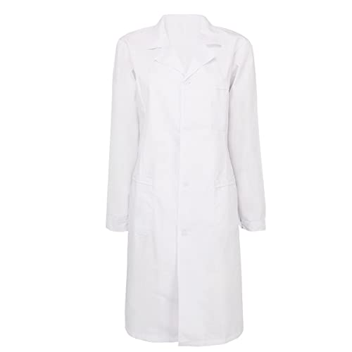 69eb9463acd iEFiEL Adult Long Sleeve Scrubs Lab Coat Medical Nurse Doctor Uniform Coat