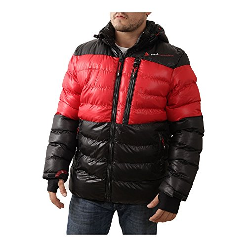 Peak Mountain - Doudoune garçon 10/16 ans ECAPTIN-noir/rouge-10 ans