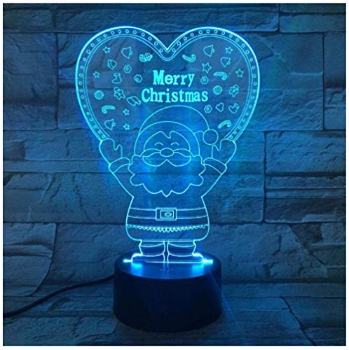 Santa Claus Loves Children's Night Light 3D Night Light 7 Color-Changing Touch Remote Control Table lamp Suitable for Home Decoration Christmas Birthday Personalized Gift